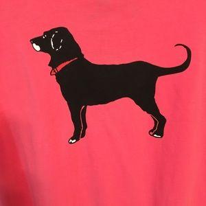 Black dog tee